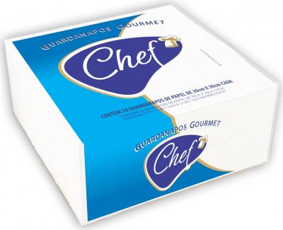 Guardanapo de papel, CHEF GOURMET 100% celulose virgem.