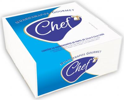 Toalha de papel, CHEF GOURMET 100% celulose virgem.