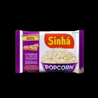 Pipoca Micro-ondas Popcorn Bacon Sinhá