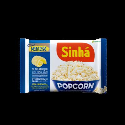 Pipoca Micro-ondas Popcorn Manteiga Sinhá